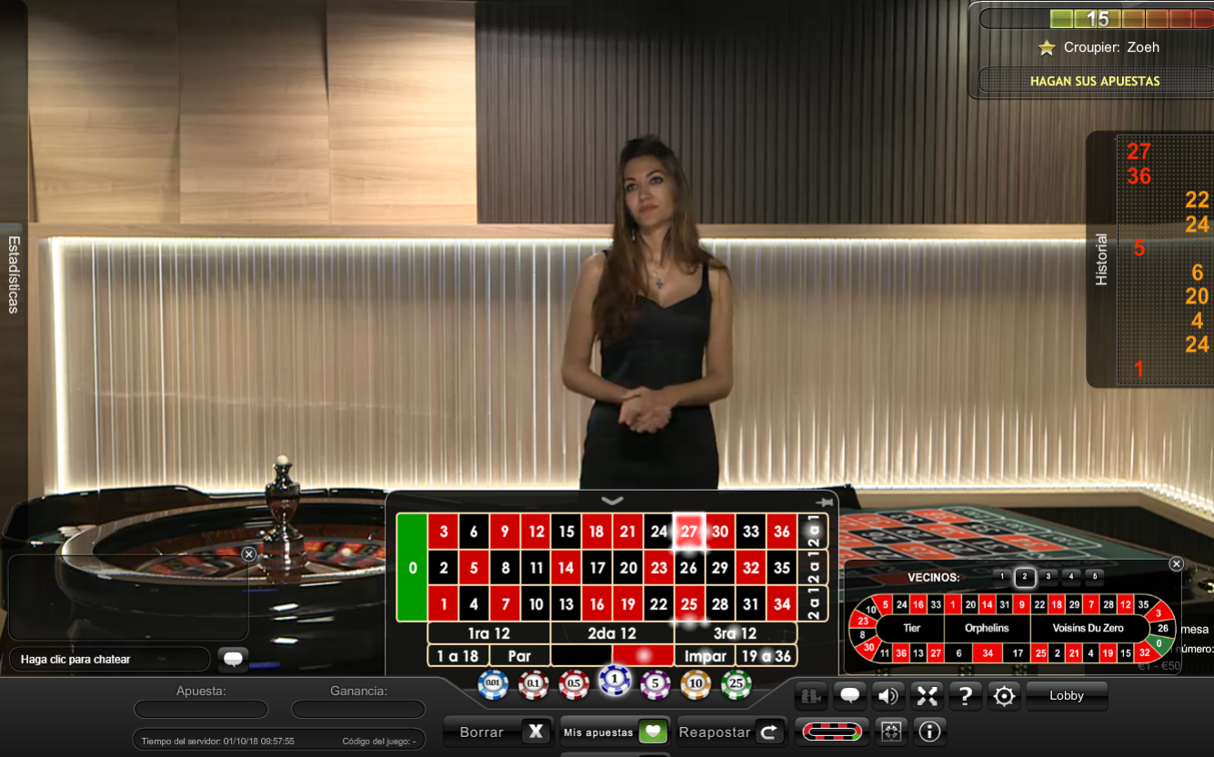 Ruleta en vivo Playtech