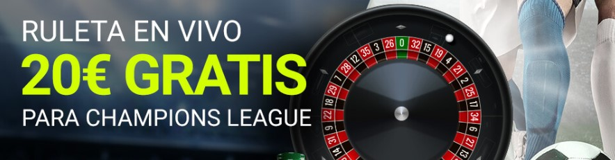 Ruleta en vivo, 20€ gratis para la Champions League en Luckia